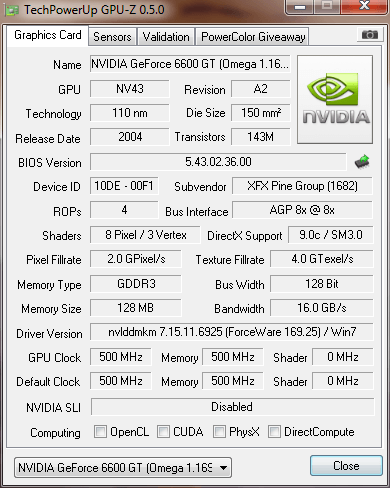 Driver Nvidia Geforce 6600 For Windows 7