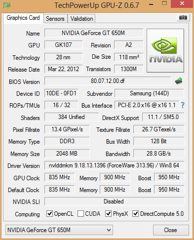 Nvidia geforce gt 650 m drivers
