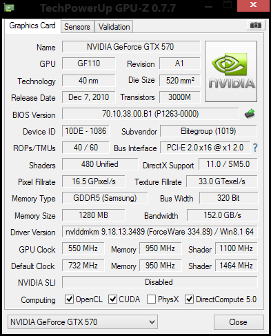 GTX 570 The problem of sudenly crashing down with Black