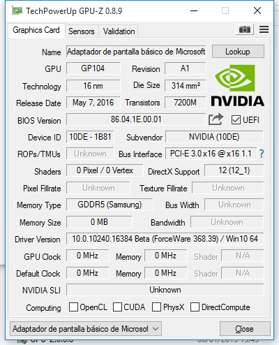 Install the nvidia drivers for gtx 1070 solved graphics cards