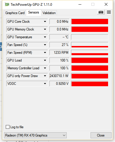 What does this mean? Is my gfx card bricked? Rx 470 Nitro + : AMDHelp