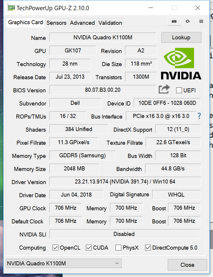 maxing performance of an old Quadro notebook GPU - Ars