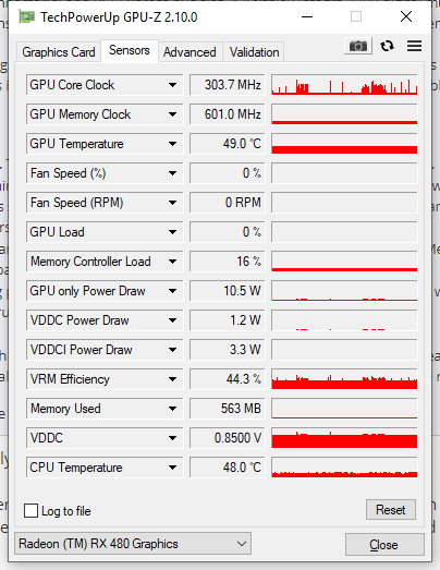 RX 580 power consumption with identical dual monitor setup : Amd