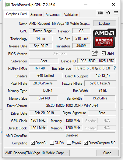 Official AMD Vega Drivers out (Nitro 5 Ryzen Edition Users) — Acer