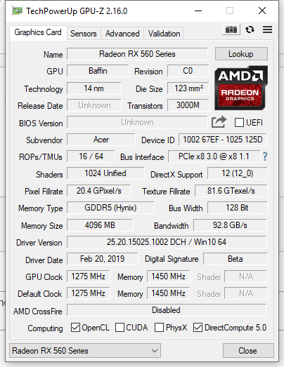 Official AMD Vega Drivers out (Nitro 5 Ryzen Edition Users